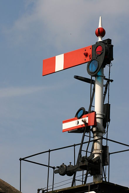 Rail semaphore (CC BY 2.0, Dave-F at http://flickr.com/photos/92163630@N00/3060839)